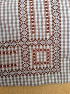Chicken Scratch, Broderie Suisse, Swiss embroidery, Bordado espanol, Stof veranderen.: