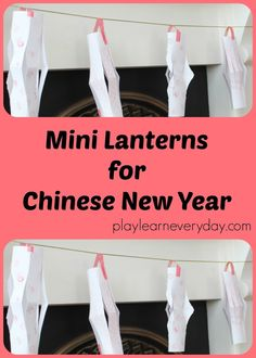 Making mini lanterns for Chinese New Year as a great activity to work on scissor skills for young children. Snow Activities, Toddler Learning Activities, Rainy Day Activities, Toddler Preschool, Educational Activities, Preschool Activities, Creative Arts And Crafts, New Year's Crafts, Crafts For Kids