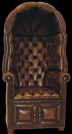 """История вещей, костюма, искусства, мебели, интерьера и быта от художника кино. - Кресло с капюшоном- кресло швейцара или """"Porters Chair""""."""