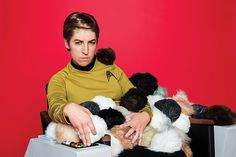 Mayim channels Capt. James T. Kirk (William Shatner). Kirk once found himself buried in adorably menacing Tribbles.<br…