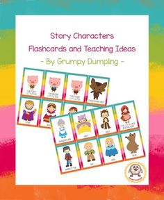 Story Characters - Flashcards and Teaching Ideas {Freebie}This resource contains flashcards and game ideas suitable for preK, K, and ESL learners/ESOL.Vocabulary: the first/second/third little pig, wolf, king, queen, princess, witch, woodcutter, grandmother, the Little Red Riding Hood, boy, girl, bear.*****************************************************************************If you like this product, you might also be interested in:Numbers and Quantities (1-6) - A Game and a Worksheet…