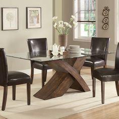 Lovely Nessa Deep Brown Rectangular Dining Table