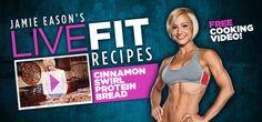 Jamie Eason's Cinnamon Swirl Protein Bread Recipe!