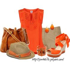 Orange Crush in a Fedora, created by jewhite76 on Polyvore