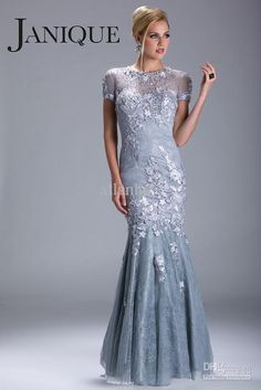 Wholesale Evening Dresses - Buy 2013 New Pageant Sexy Bateau Beaded Lace Short Sleeves Formal Evening Dresse N035, $145.37 | DHgate