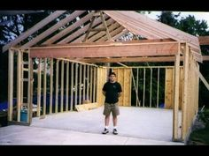 Building your own 24'X24' garage and save money. Steps from concrete to framing. - YouTube #buildingashed