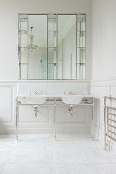 White Bathroom Spaces - Interior Design Photos   Live Love in the Home