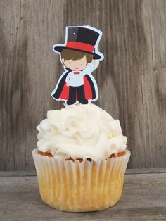 Magic Show Party - Set of 12 Magician Cupcake Toppers by The Birthday House on Etsy, $6.00