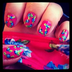 one of my fav nail arts I did. it was featured by targetstyle as a finalist was so awesome :) pretty funny considering the print was inspired off my underwear