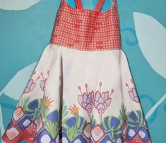 easiest girl's dress--cut and sew.  Great for Soleil
