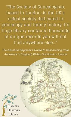 Genealogy Tips: The Society of Genealogists, based in London, is the UK's oldest society dedicated to genealogy and family history. Its huge library contains thousands of unique records that you will not find anywhere else, some of which are available online to members.