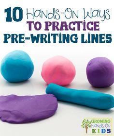 10 hands-on ways to practice pre-writing lines for preschoolers (fine motor skills)