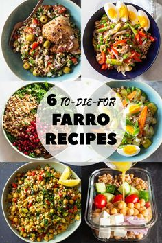 These 6 farro recipes are perfect for easy meal prep. From farro salad to vegetarian meal prep bowls, you can make a meal that is as delicious as it is healthy! meals vegetarian Farro Recipes to Make Your Meal Prep Easier Vegetarian Meal Prep, Vegetarian Salad Recipes, Healthy Recipes, Vegetarian Sandwiches, Vegetarian Diets, Going Vegetarian, Vegetarian Breakfast, Vegetable Recipes, Meat Recipes