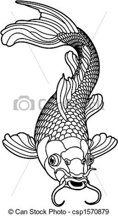 Stock Vector Of Koi Carp Black And White Fish Art By ChrisGorgio From The Collection IStock Get Affordable At Thinkstock