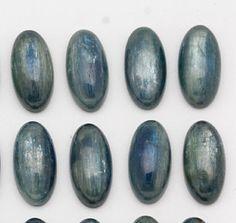 10mm x 20mm Beautiful Blue Oval Kyanite Cabochons by iwoowoo
