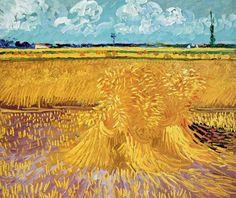 Vincent Van Gogh - Post Impressionism - Arles - Champ de blé - 1888
