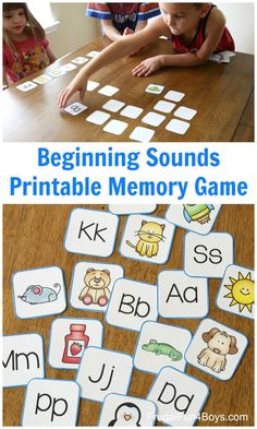Letter Games For Kids, Letter Sound Games, Letter Sound Activities, Phonics For Kids, Card Games For Kids, Memory Games For Kids, Phonics Activities, Stem Activities, Learning Activities