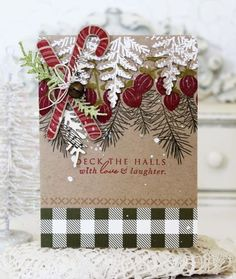 Deck The Halls Card by Melissa Phillips for Papertrey Ink (November 2016)