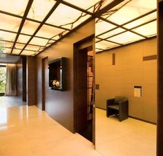 Onyx ceiling- when backlit that is all the light you need in your house. visit…