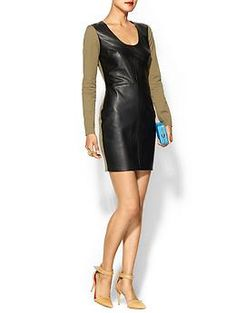 #Robert Rodriguez Leather Twill Dress | #Piperlime