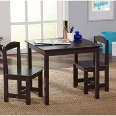 Baby Relax Hunter  Piece Rectangular Table And Chair Set - Walmart kids table and chair set
