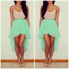 need a teal high-low skirt this summer!