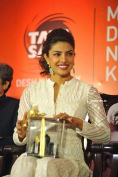 Priyanka Chopra In White Dress At Tata Salt Event In Mumbai