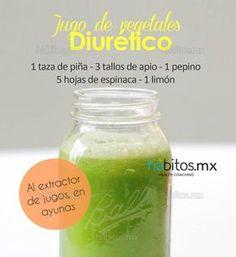 Jugo de Vegetales  Diurético Elimina líquidos retenidos