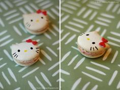 hello kitty macarons | via i heart baking!