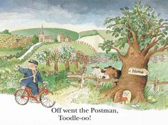 Alan Ahlberg - The Jolly Postman The Jolly Postman Book, Country Scenes, Children's Picture Books, Children's Literature, Children's Book Illustration, Childrens Books, Illustrators, Book Art, Childhood