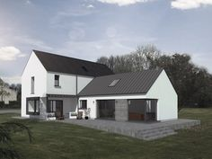 Bungalow Renovation, Farmhouse Renovation, Bungalow Exterior, Style At Home, Bungalow Haus Design, Modern Bungalow, House Designs Ireland, Dormer House, L Shaped House