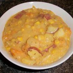Roasted Sweet Potato Corn Chowder