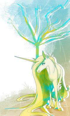 Unicorn with Tree by Famosity.deviantart.com on @deviantART