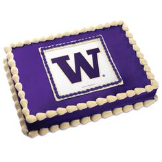 University of Washington Huskies Edible Image Cake Topper. (Discontinued - No longer available)