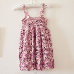 Light summer dress for sunny days! Can be worn over a t-shirt too. It is working up very quickly and looks adorable on little ones!