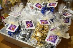 Chocolate foil wrapped stars. Available in milk, dark and white chocolate.