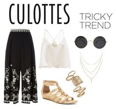 """""""culottes"""" by jennene ❤ liked on Polyvore featuring Temperley London, Topshop, Croft & Barrow, TrickyTrend and culottes"""