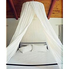 Dreamma Elegant White Round Bed Canopy Mosquito Net