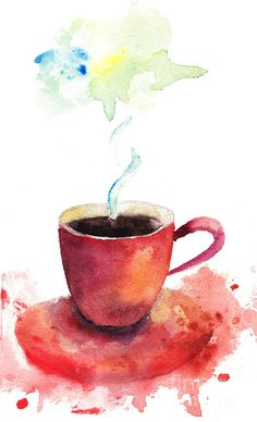 A Cup Of Coffee Painting by Regina Jershova