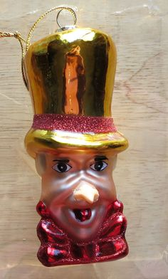 "Mad Hatter Glass Christmas Ornament Holiday Cardew Design ""Alice in Wonderland"" 
