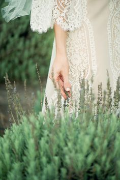 """Look up the word """"dreamy"""" in the dictionary and I'm fairly certain you'll find a sweet little pic of this beautiful lavender farm inspiration shoot from Adorne Artistry . Rosa Pink, Malva, Wedding Gowns, Wedding Lace, Dream Wedding, Wedding Inspiration, Wedding Ideas, Flower Girl Dresses, Wedding Photography"""