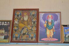 Guru Nanak and other Sikh Gurus.