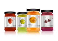 Delhaize Jams...love the luminous color on the packaging that coordinates so beautifully with the jam