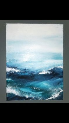 Abstract ocean view waves acrylic on canvas, .- Abstrakter Meerblick bewegt Acryl auf Segeltuch wellenartig, … Abstract seascape waves acrylic on canvas, - Abstract Art Painting, Art Painting, Abstract Artists, Ocean Painting, Abstract Painting, Painting, Art, Abstract, Seascape Paintings