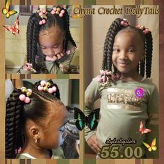 StyleSeat - Online Booking for Hair Stylists & Beauty Professionals Lil Girl Hairstyles, Girls Natural Hairstyles, Natural Hairstyles For Kids, My Hairstyle, Natural Hair Styles, Braids For Kids, Girls Braids, Kid Braid Styles, Long To Short Hair