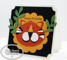 Stampin' Up!  Ornament Punch  Beth Beard  Little Lion
