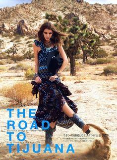 Kate King blurs for Vogue Japan