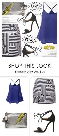 """""""Summer Date"""" by pokadoll ❤ liked on Polyvore featuring Victoria, Victoria Beckham, Anya Hindmarch, Simon Sebbag, polyvoreeditorial, polyvorefashion, polyvoreset and zaful"""