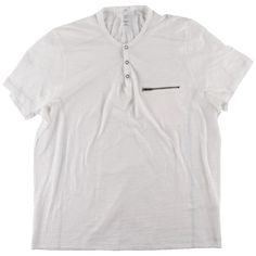 INC 1168 Mens White Zipper Pocket Slub Short Sleeve T-Shirt Top XL Retail Price $19.98