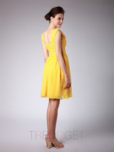 Ruffles Chiffon Straps Sheath / Column Bridesmaid Dresses - $134.99 - Trendget.com